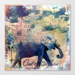 Elephants Journey Canvas Print
