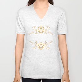 The Dice Giveth and Taketh D20 Dungeons and Dragons Inspired DnD D&D Unisex V-Neck