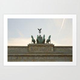 Victory, Brandenburger Gate statue Berlin Art Print