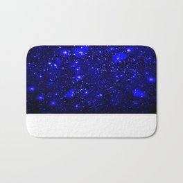 Dark Matter Galaxy Blue Bath Mat