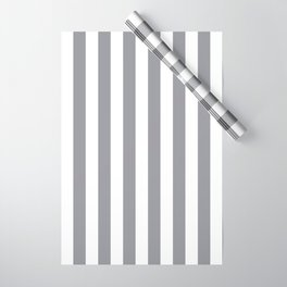 Vertical Grey Stripes Wrapping Paper