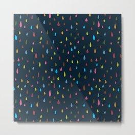 Rainbow Raindrops at Dusk Metal Print