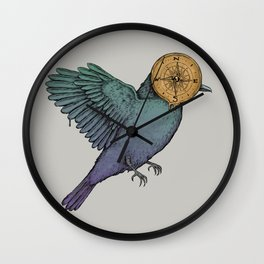 Contemplation of a Journey Wall Clock