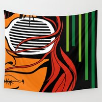 lips Wall Tapestries featuring Lips by David Navascues