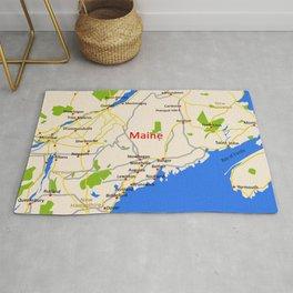 Map of Maine state, USA Rug