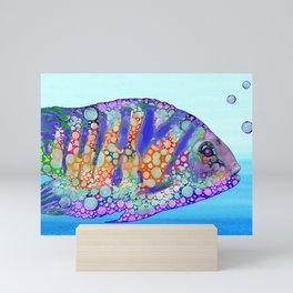 Multicolor Fish Design 183 Mini Art Print