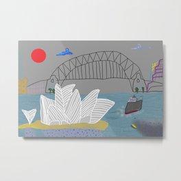 Smokey Sydney (Ken Done Tribute) Metal Print