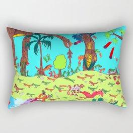 Dinosaur Battle_2 Rectangular Pillow