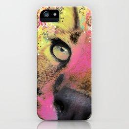 Little Caracal Cat Face iPhone Case