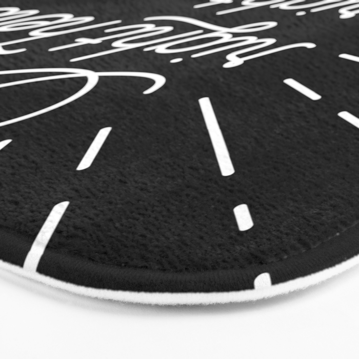 Right Here Right Now: Black Bath Mat