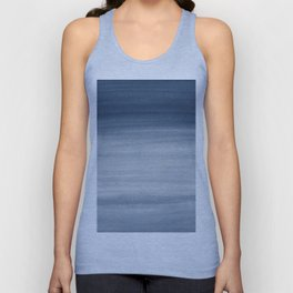 Touching Navy Blue Watercolor Abstract #1 #painting #decor #art #society6 Unisex Tank Top