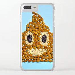 Poop Food Emoji Clear iPhone Case