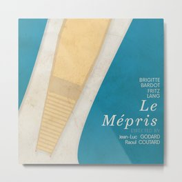 Contempt, Le Mépris, Jean-Luc Godard, Fritz Lang, Brigitte Bardot, french film, new wave, vague Metal Print