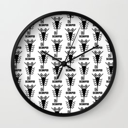 scorpio astrology pattern Wall Clock