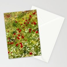 Impressionist Poppies Stationery Cards
