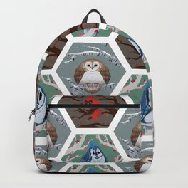 Fat Birds Pattern Backpack