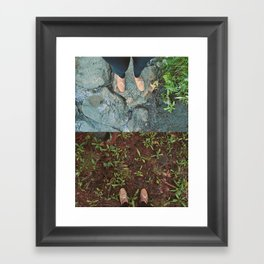 Destressed Framed Art Print