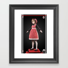 Red bonnet Framed Art Print