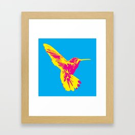 CMY Bird Framed Art Print