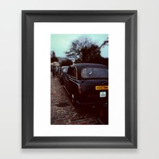 London Cab Framed Art Print