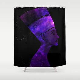 Queen Nefertiti Nebula Dark Stardust Shower Curtain