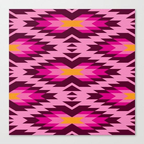 Tribal pattern - pink Canvas Print