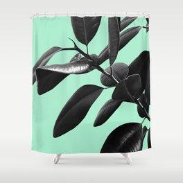 Ficus Elastica Beach Vibes #2 #foliage #decor #art #society6 Shower Curtain