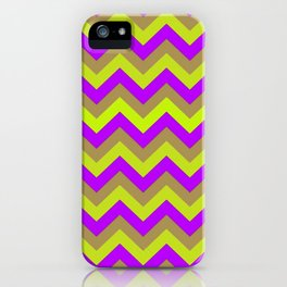 Chevron, lilac and green iPhone Case