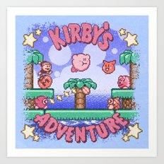 Adventure Kirby Art Print