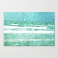 sailing Canvas Prints featuring sailing by Iris Lehnhardt