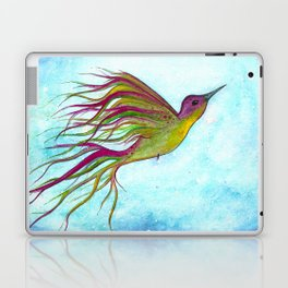 "Watercolor Hummingbird Illustration ""Free Spirit"" Laptop & iPad Skin"