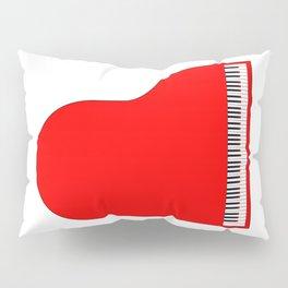 Red Grand Piano Pillow Sham