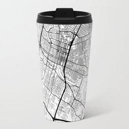 Austin Map White Travel Mug