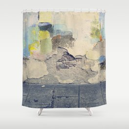 grunge wall Shower Curtain