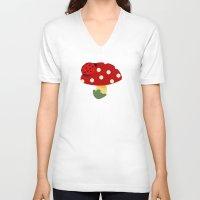 ladybug V-neck T-shirts featuring ladybug by Alapapaju