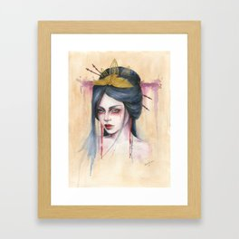 Amaya - Japanese inspired portrait painting Framed Art Print