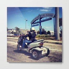 Motorcycle on Redondo Beach Metal Print