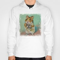 hamster Hoodies featuring Hamster by Michael Creese