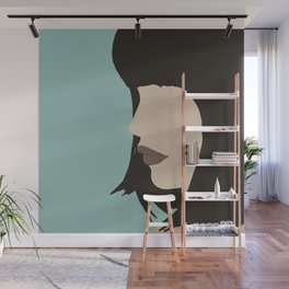 Cara - a modern, minimal abstract portrait of a woman Wall Mural