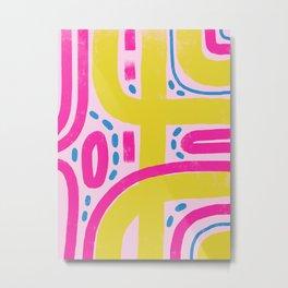 Retro fun super bright pattern Metal Print