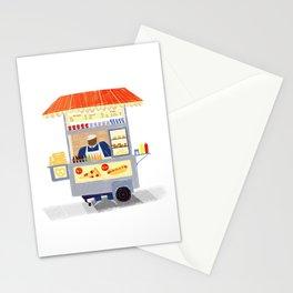 NY Street Food vendor Stationery Cards
