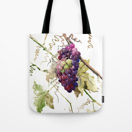 Grapes, California Vineyard Wine Lover design Tote Bag