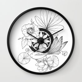 Fish Pond Wall Clock