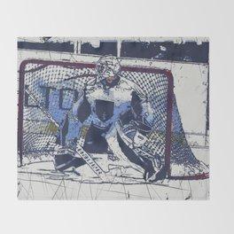 The Goal Keeper - Ice Hockey Throw Blanket