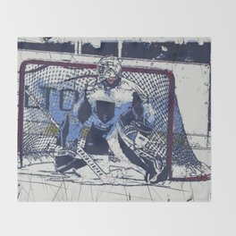 The Goal Keeper - Ice Hockey Throw Blanket