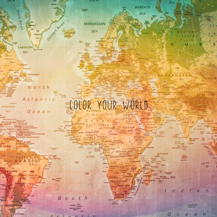 Color your World Duvet Cover