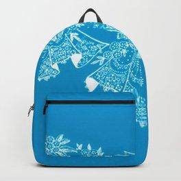 Vintage Lace Hankies Blue Backpack