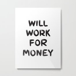 Money Metal Print