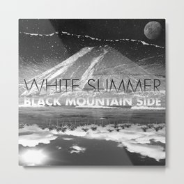 White Summer / Black Mountain Side Metal Print