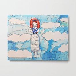 Sky Girl Metal Print